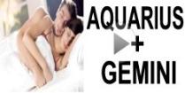 Aquarius + Gemini Compatibility